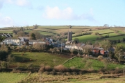 Bradninch: the village from the east