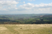 View of Teign valley from hut circles