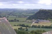 View of Beeston Castle from Peckforton Castle.