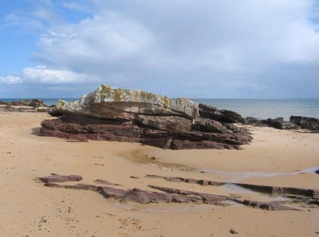 Rock outcrop, Dornoch beach