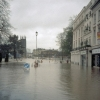 The Lower Parade under water