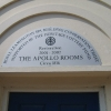 Plaque at the Apollo Rooms