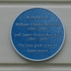 Plaque on the Renshaw's house