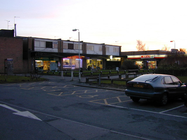 Shops behind The Mercia