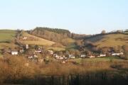 Bickleigh: Bickleigh village from the west