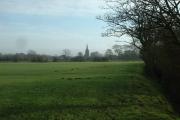 Farmland and Pilling Church