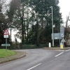 Junction of the Berry Pomeroy lane with the A385