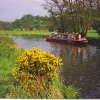 Narrowboat on the River Wey at Farncombe.