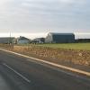 Farm buildings from the B842 near Stewarton.