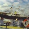 Britannia in Aberdeen Harbour.