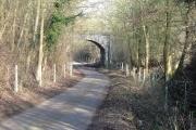 Raffin Lane passes under the Hertford loop of the Stevenage - London railway.