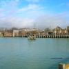 Former swing bridge over the river Ouse, Newhaven