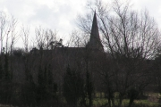 View through woodland across to Collier Street Church
