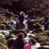 Students measuring the Afon Hen