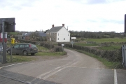 Axe Farm from the level crossing