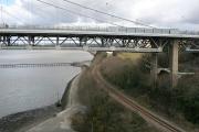Tamar Road Bridge and Gunnislake Branch Line