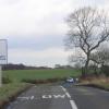Crossroads near Marsh Lane in NE Derbyshire