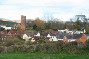 Stogumber the village from the west