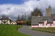 Pub, Church and Cottages at Cavendish