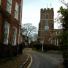 Rectory Lane with St. Andrew's Church, Ampthill