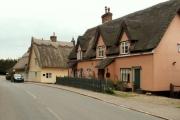 Thatched cottages at Lamb Corner, Essex