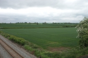Railway and fields