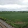 Railway and fields