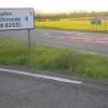 Turn off and signs for Ayton from A1