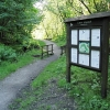 Information board in Cwm Clydach Nature Reserve