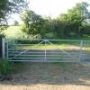 Farm gate with built in pedestrian gate