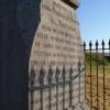 Patteson's Cross - the inscription