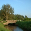 Bridge over the Babingley River, Norfolk.
