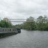 Pipe bridge over the River Avon, Broad Mead