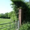 Brick gatepost, Otterden Estate