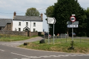 Three Crosses: farmhouse by road junction