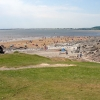 Looking down to Ogmore Beach from the Car Park