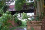 Bridge over former railway track near Newton Poppleford