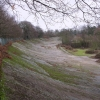 Brooklands motor racing track.