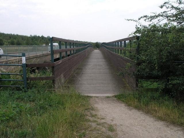 Footbridge and Campervan