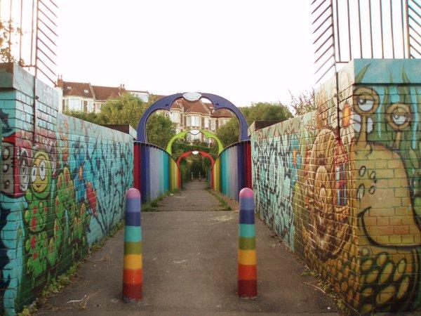 Rainbow foot bridge