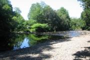 Pebble beach on the River Tavy
