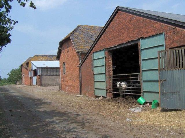 Farm Buildings Near Brockton Hall