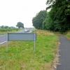 Cycle path alongside the A689