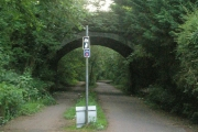 Bridge carrying A4118 over Swansea Cycle path