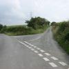 Road Junction near Pen-y-Bryn farm