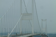 Aust, The Severn Bridge from the Service Area.
