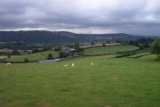 Farmland near Maes y Castell above Caehun