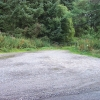 Car park area in Coed Bryndansi