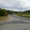 Road junction on the A458 near Cyfronydd