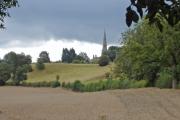 Mouldsworth - Ashton church from Congar Lane